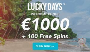 Unieke welkomstbonus Lucky Days