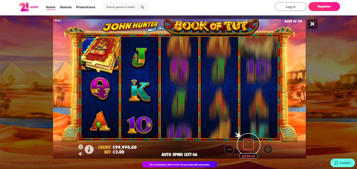 21.com Casino gratis spelen