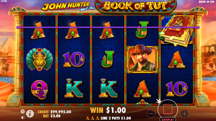 Free spins voor John Hunter and the Book of Tut