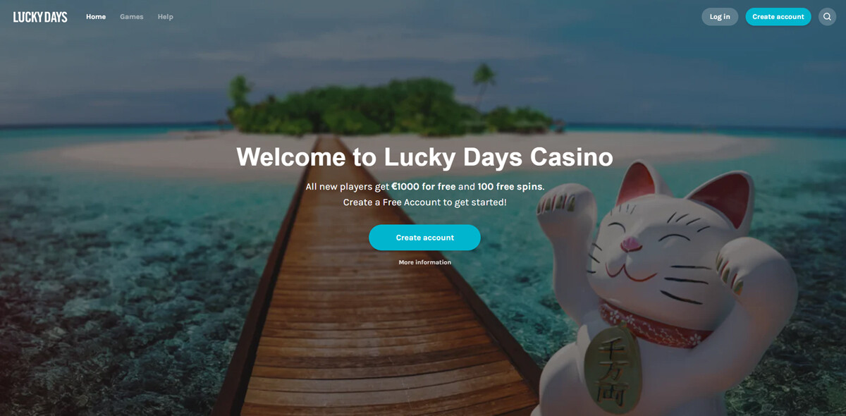 Lucky Days Casino homepagina