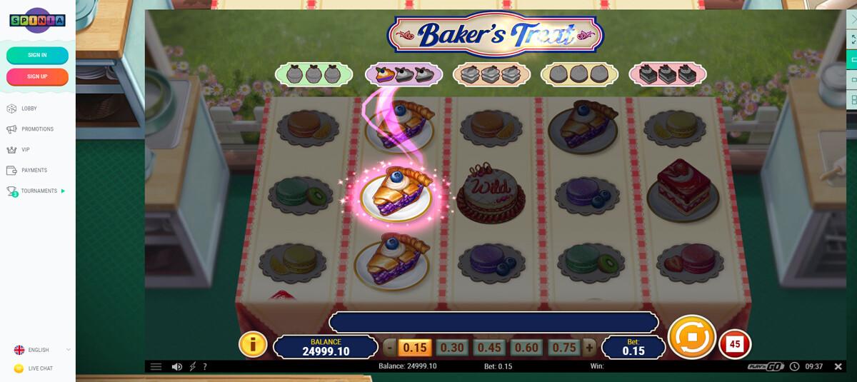 Spinia Casino gratis spel