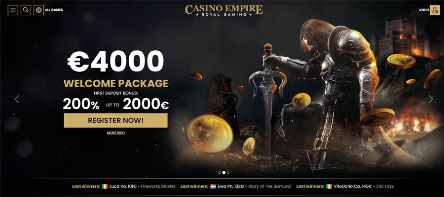 casino empire casino bonus