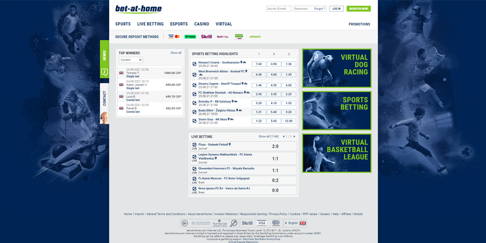 Bet-at-home Casino online