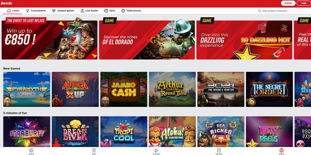 Betclic online casino reviiew